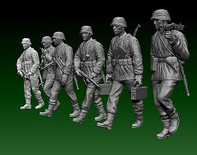 ss German soldiers 3D printable model