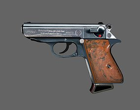 3D model VR / AR ready Walther PPK