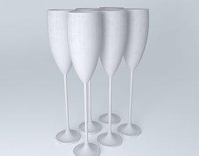 flute champagne champagne flute 3D model
