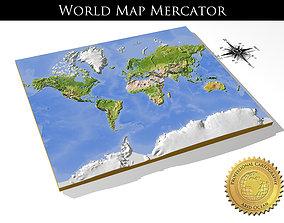 WorldMercator High resolution 3D relief maps
