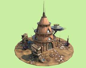 Stylized Alien House 3D asset