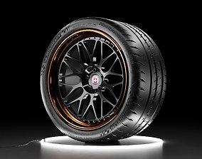 3D model Car wheel Michelin Pilot Sport Cup 2 tire with 2