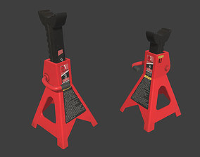 3D asset Steel Jack Stand