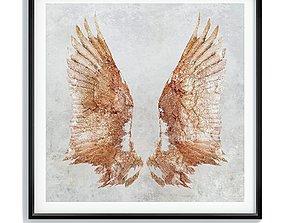 3D model Painting frame Canvas art 022