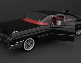 black classic car 3D