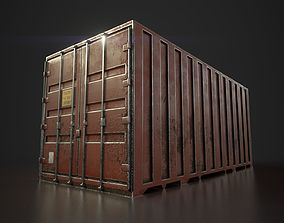 Low Poly Cargo container 3D asset