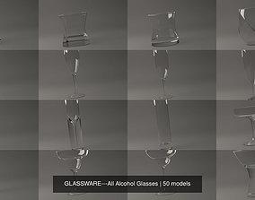 GLASSWARE---All Alcohol Glasses 3D model