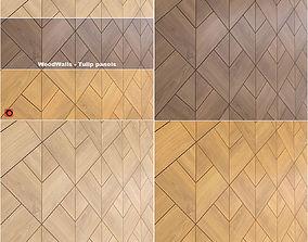 3D model wooden wall panels woodwalls Tulip
