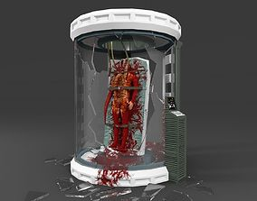 3D asset VR / AR ready Thing creature in Lab room