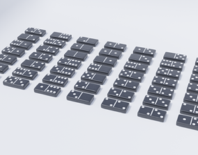 Domino Tile Collection 3D asset