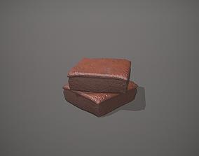Chocolate Brownie 3D asset