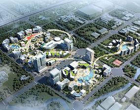 3D flat City Shopping Mall