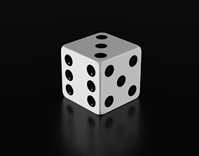 3D model Black and White Dice