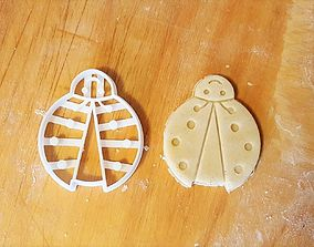 Ladybug cookie cutter version 2 3D print model