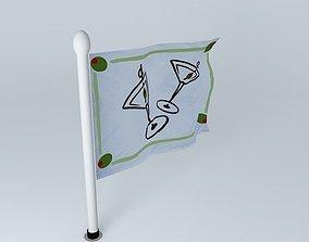 3D model Cocktail Flag