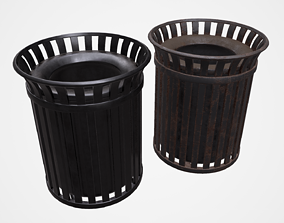 3D model subdivision Trash can