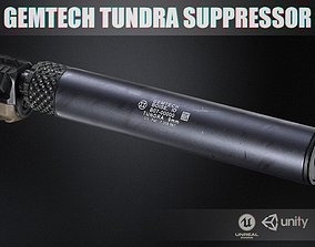 Gemtech Tundra Suppressor 9mm 3D model VR / AR ready