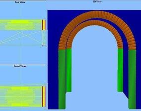 3D model Barrel vault 10x20x10 feet