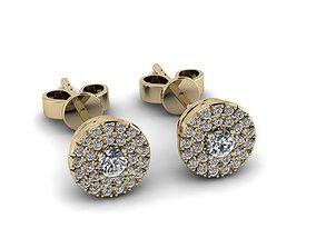 3D print model Diamond Jewelry Earring 3mm STONE 013