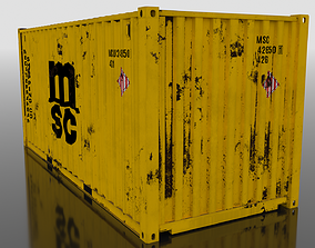 3D asset Shipping Container 20ft