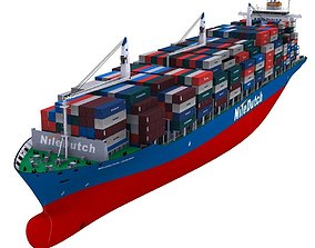 Container Ship - 02 3D model