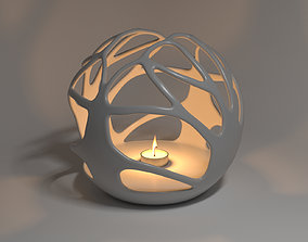3D print model Abstract candle stand