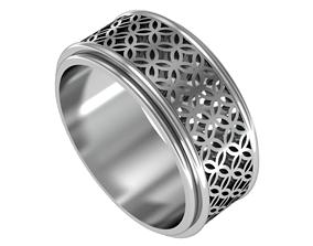 geometric classic ring 3D print model 3d-design