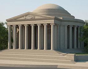 3D model Thomas Jefferson Memorial neoclassical