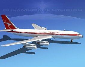 3D Boeing 707 Qantas
