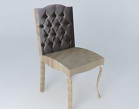 Black chair CHLOE houses the world 3D