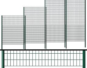 3D model Metal Wicket fence
