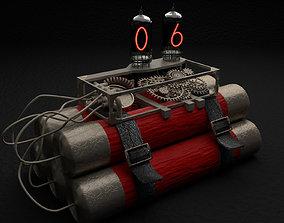 Steampunk time bomb 3D