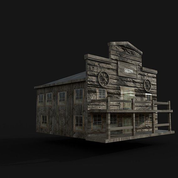 Saloon Low Poly