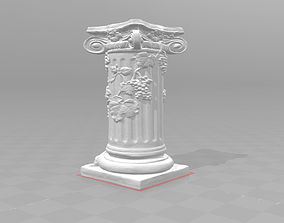 3D printable model Ancient column pillar vines grapes 1