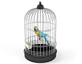 3D model Parrot Bird In A Cage