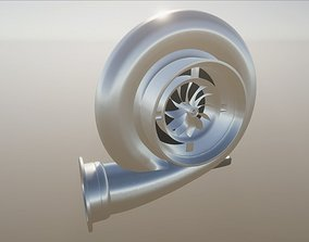 Turbo Charger for Car Tunning 3D asset