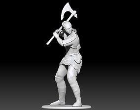 Viking Miniature Shield Maiden 3D print model