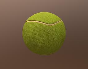 Tennis Ball ball-shaped 3D model VR / AR ready
