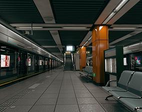 3D Subway Station in Shanghai