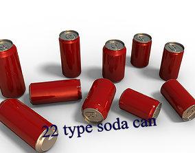 3D model 22 Beverage Can set