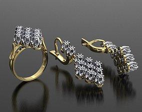 MGold026 Romb Set whit Diamonds 3dmodel 3D print ready