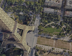 3D Paris City Eiffel Tower