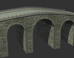 Chinese ancient bridges Golden Water Bridge 3D asset