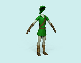3D model Character Outfit - inspired in Link - Legend of