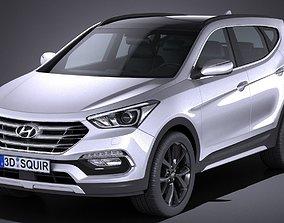 3D model Hyundai Santa Fe Sport 2017