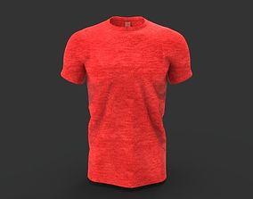3D asset low-poly tshirt T-shirt