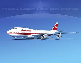 Boeing 747-100 TWA 2 3D model