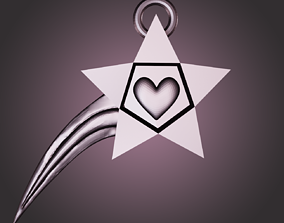 pendants 3D printable model Love Star
