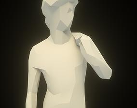 David Sculpture Low Poly 3D model realtime