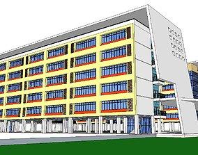 3D model Office-Teaching Building-Canteen 43